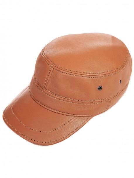 Зимна шапка с козирка - камел