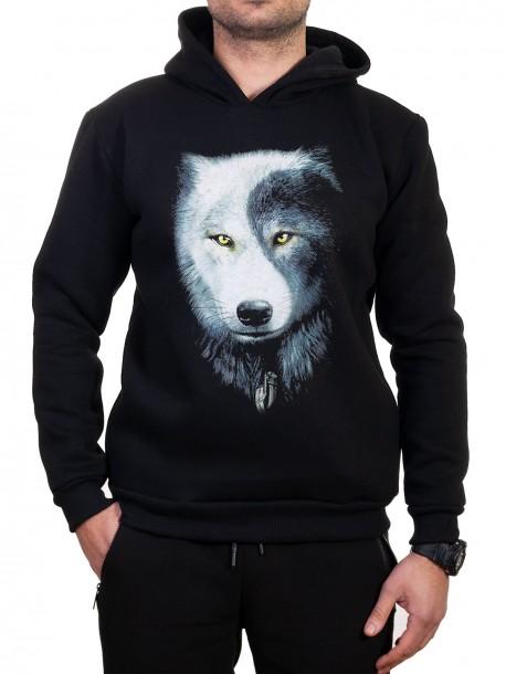 Мъжки суичър с вълк