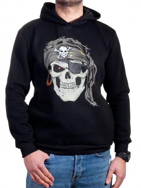 Черен мъжки суитчър с череп