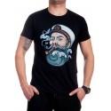 Черна мъжка тениска с моряк