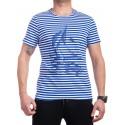 Моряшка мъжка тениска на райе с кораб