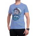 Мъжка тениска на райе с моряк