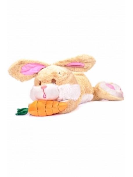 Плюшен заек със морков 50 см. V0689