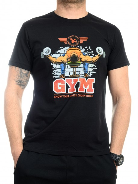 Черна тениска за фитнес