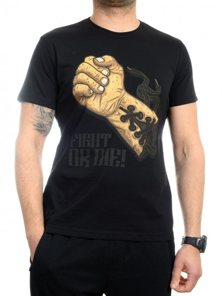 Черна тениска за боксьори