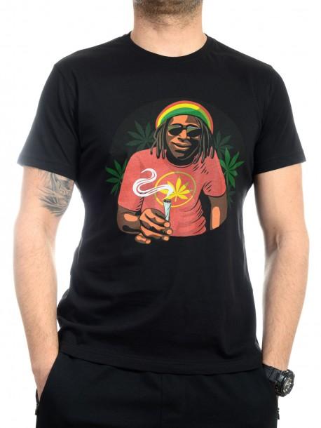 Черна тениска Боб Марли