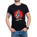 Черна мъжка тениска с войн