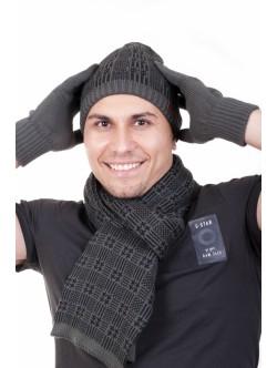 Шал шапка и ръкавици Сион