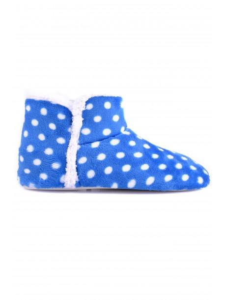 Пантофи Беки синьо на точки V0872
