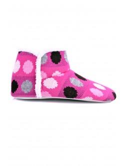 Пантофи Беки розово на точки