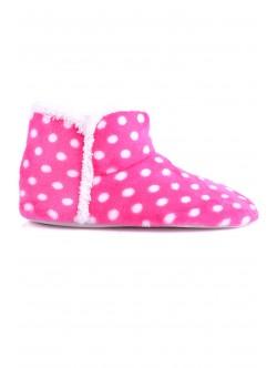 Дамски пантофи Беки розово с бели точки