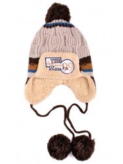 Детска шапка Макс кафяво