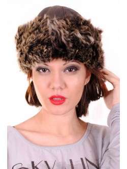 Кафява дамска шапка Тоскана