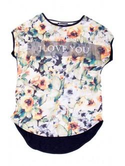 Дамска тениска I love you