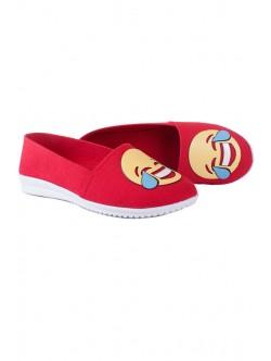 Червени ниски обувки Емотикон