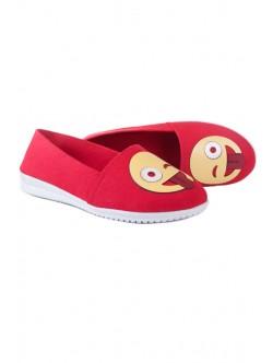 Ниски обувки в червен цвят