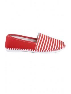 Ниски обувки без връзки червено рае
