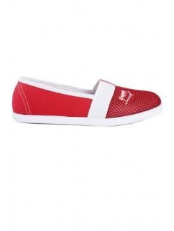 Червени обувки без връзки