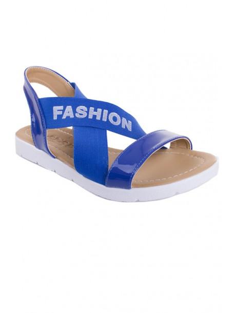 Сини сандали с ластик V01460