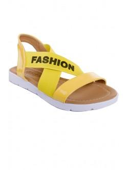 Жълти сандали с ластик