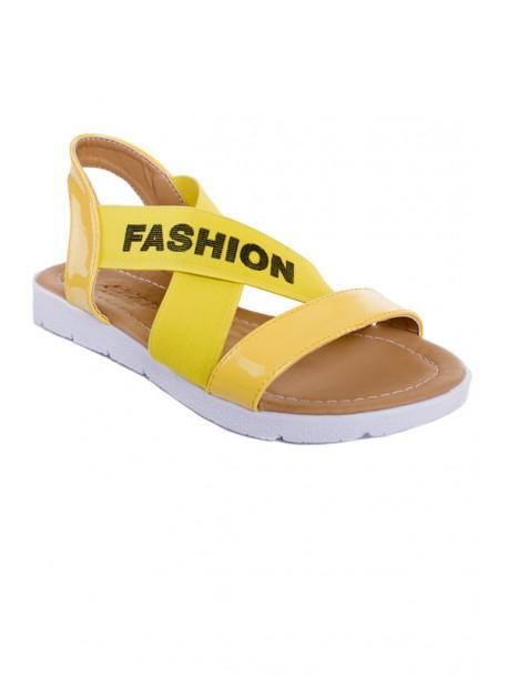 Жълти сандали с ластик V01461