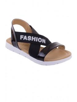 Черни сандали с ластик