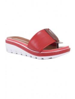 Дамски чехли Клариса червено