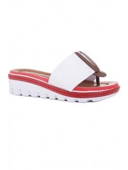 Дамски чехли Клариса бяло