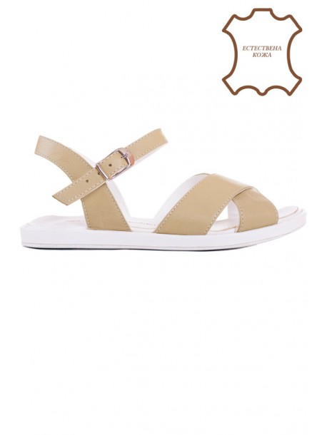 Зелени сандали естествена кожа V01501