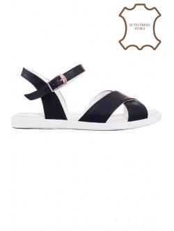Черни сандали от естествена кожа