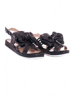 Черни сандали с панделка