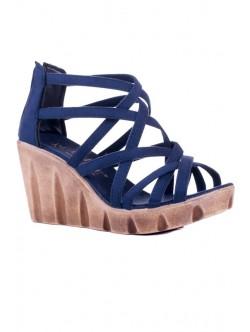 Сини сандали на платформа