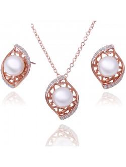 Дамски комплект с перли