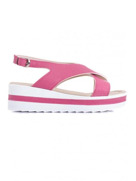Розови дамски сандали Ира V01588