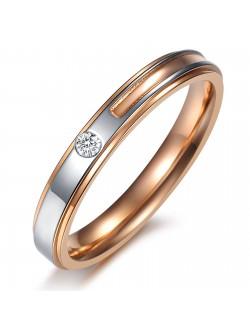 Годежен пръстен бяло и жълто злато