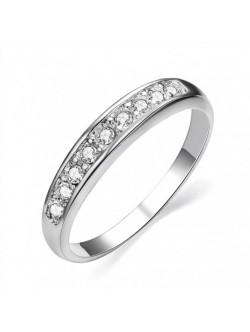 Пръстен бяло злато и диаманти