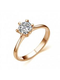 Златист елегантен дамски пръстен