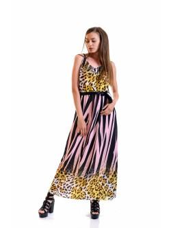 Дълга рокля Злати розово
