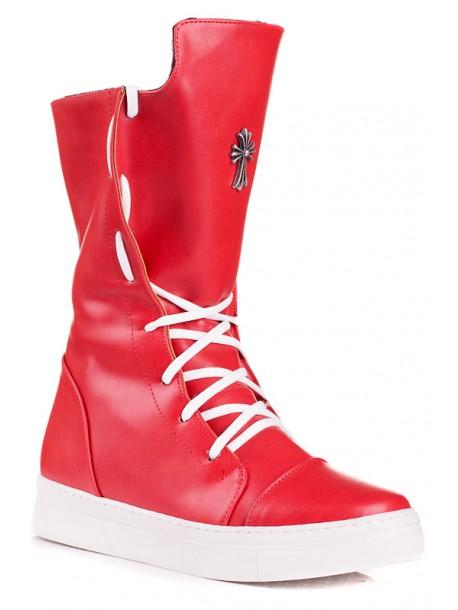 Дамски ботуши Моли - червени