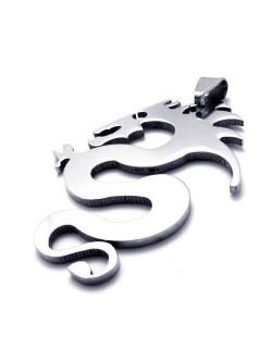 Стоманен медальон - дракон