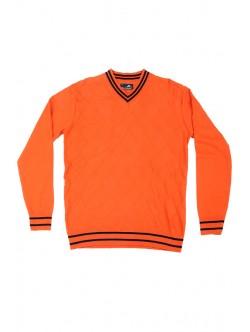 Оранжев мъжки пуловер