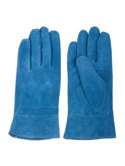 Сини велурени ръкавици