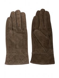 Дамски ръкавици от естествен велур - зелени