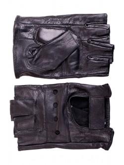 Мъжки кожени ръкавици без пръсти