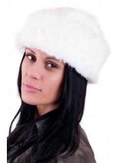 Бяла шапка от заек