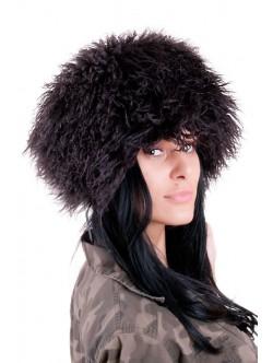 Пухкава шапка от лама