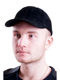 Велурена шапка от естествена кожа