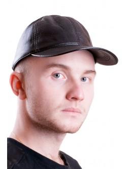 Мъжка кожена шапка с козирка