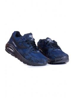 Камуфлажни дамски маратонки - синьо