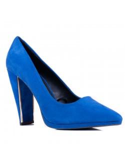 Сини велурени токчета